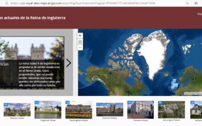 Storymap Residencias Familia Real Británica