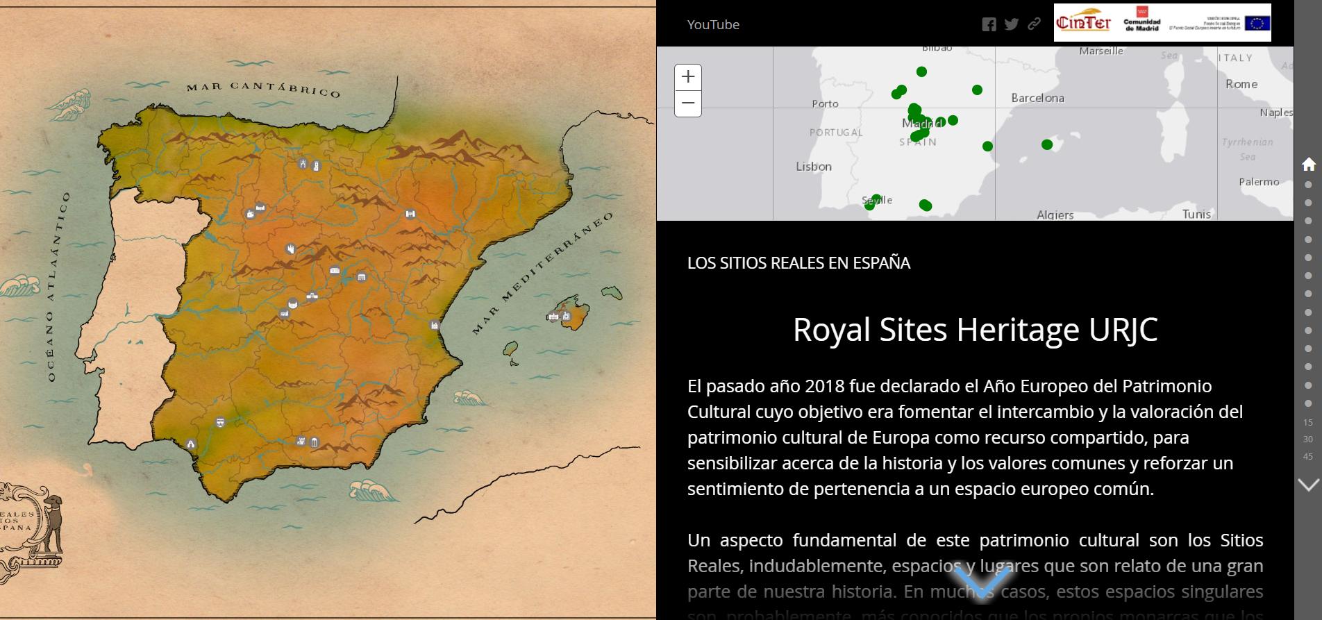 Story Map de los Sitios Reales en España: un tour por la Historia Real de España