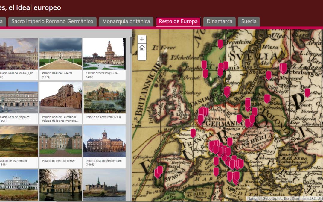 Story Map de los Sitios Reales de Europa: un ideal europeo